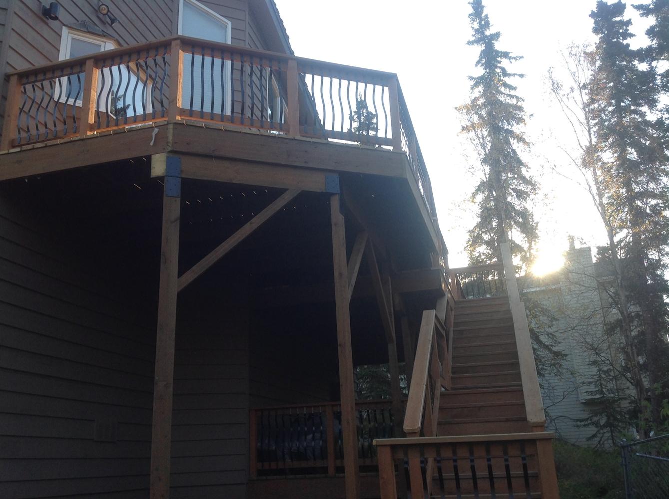 Alaska Fence and Deck Install 1