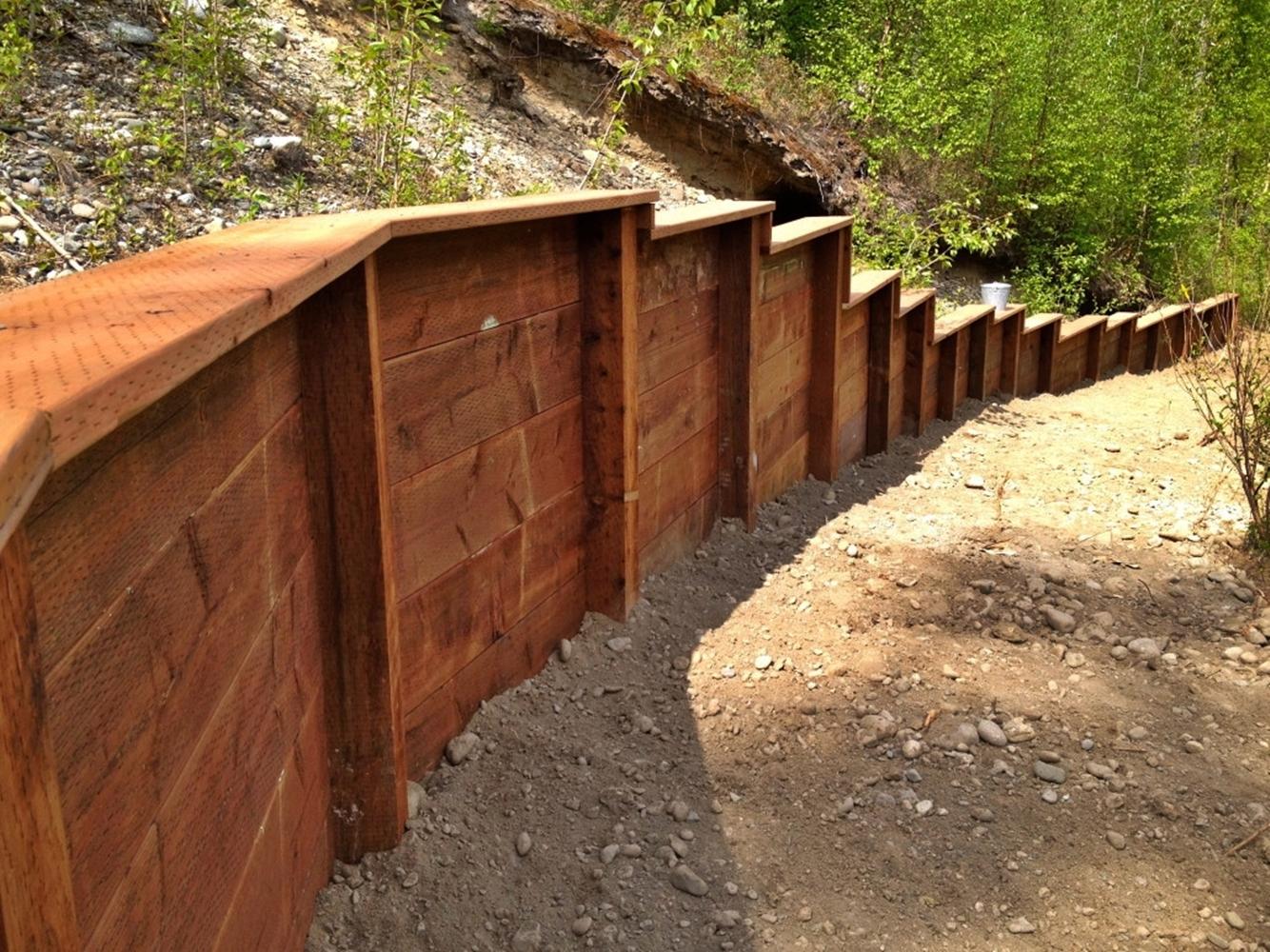 Alaska Retaining Wall Install 1