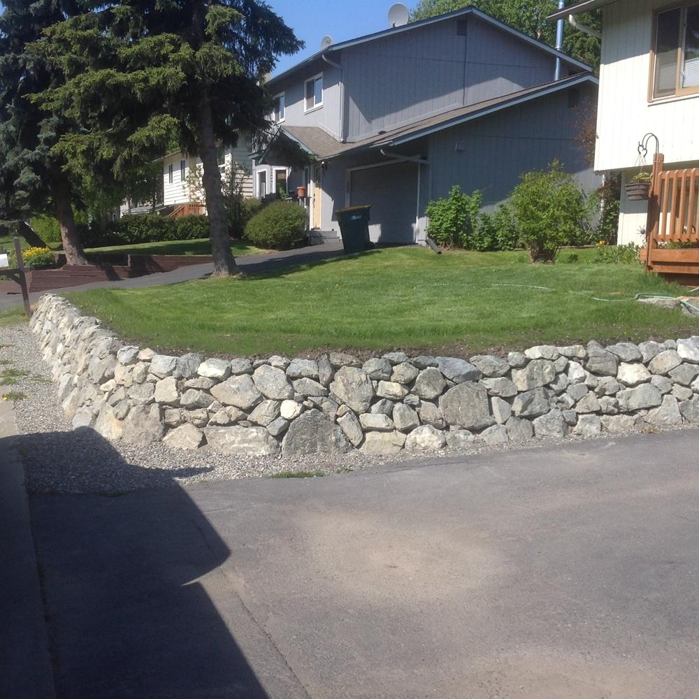 Alaska Retaining Wall Install 5