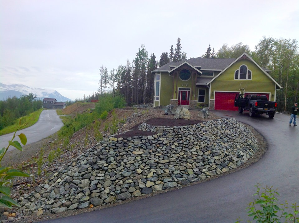 Landscaping with tiered levels