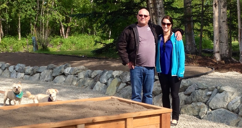 Rock Landscaping Owner Russ Enz and daughter